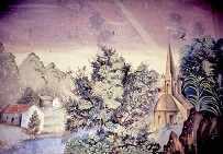 Las pinturas en el templo de Flamacordis